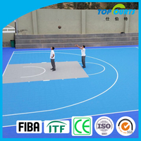 Hot selling indoor and outdoor basketball court plastic flooring