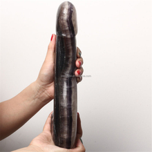 Big Size Natural Fluorite Genital Carving Crystal Dildo Sex Toy Healing Artificial Penis