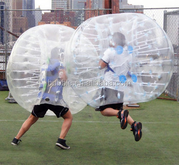 PVC material human size bubble football, body zorb ball