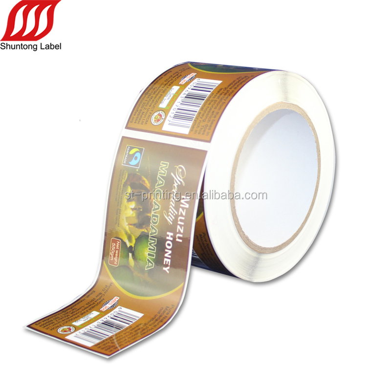 150cc plastic bottle label printing