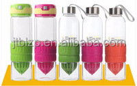 A variety of color optional portable water bottle with a funnel