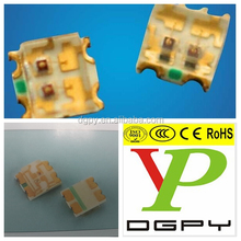 led warm white rgb bi-color 1615 smd led green yellow blue