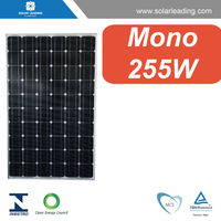 High efficiency 255w mono solar cell pv modules connect to pure sine wave power inverter for home on grid solar system