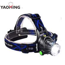Zoomable 3 Modes Super Bright LED Headlamp flashlight with Rechargeable Batteries, Car Charger, Wall Charger and USB Cable