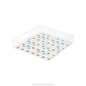 Wholesale lucite tray supplier square acrylic trays display