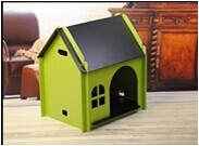 QQFactory wooden dog house with run & wooden house for dog
