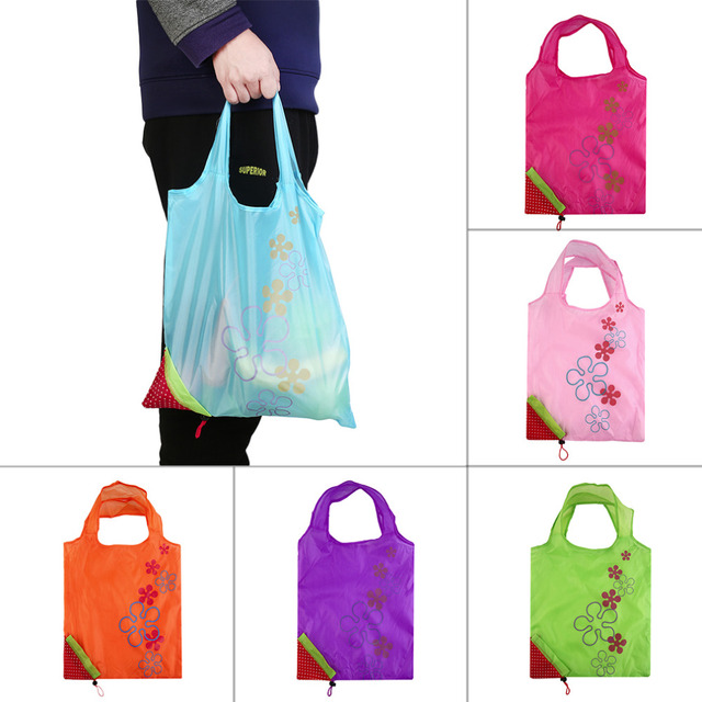 Eco Storage Handbag Strawberry Foldable Shopping Bags Beautiful Reusable BagHigh Quality 2016 Hot Sale