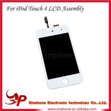 BLACK and WHITE Color LCD Assembly w/ Home Button For iPod Touch 4
