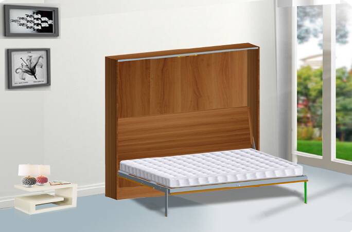 Side Mounted Hidden Wall Bed Mechanism with Automatic Vertical Legs