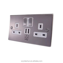 alibaba eu multi function universal double USB Wall Socket US power socket BS standard 13A with CE approved