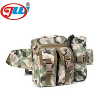 Men military waist bag with mobile phone
