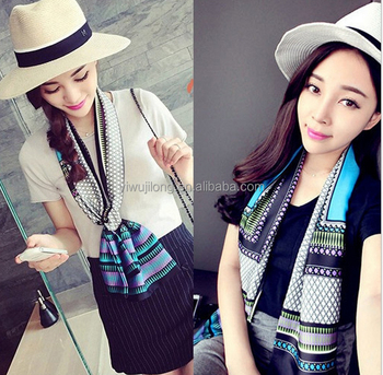 New fashion classic decoration satin ribbon lady neck tie scarves