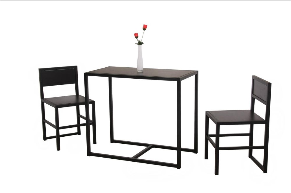 industrial dining table set with MDF top