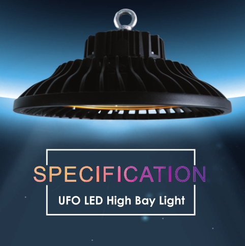 Gold supplier custom logo 120w ufo led high bay light for industrial project
