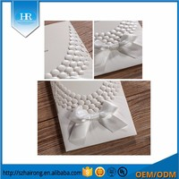 Fold White Butterfly Knot Wedding Card Birthday Invitation Card