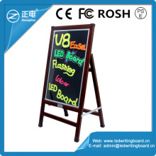 Wood-imitation frame trade assurance neon light sign board 90 flashing SMD 5050 dry erase boards writable led illuminated boards