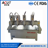 Long time lifetime Multifunctional 4 head cnc router rotary multi-heads cnc router