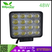 "4 row 6""inch 48W led light bar Lifespan above 30000 hours car auto parts rgb led bar light halo"