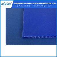 Accept customized PP blue Color corrugated board