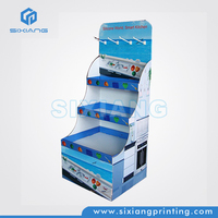 Eye-Catching 2014 New Product Advertising The Products Free Standing Display Rack for Shop Counter Design