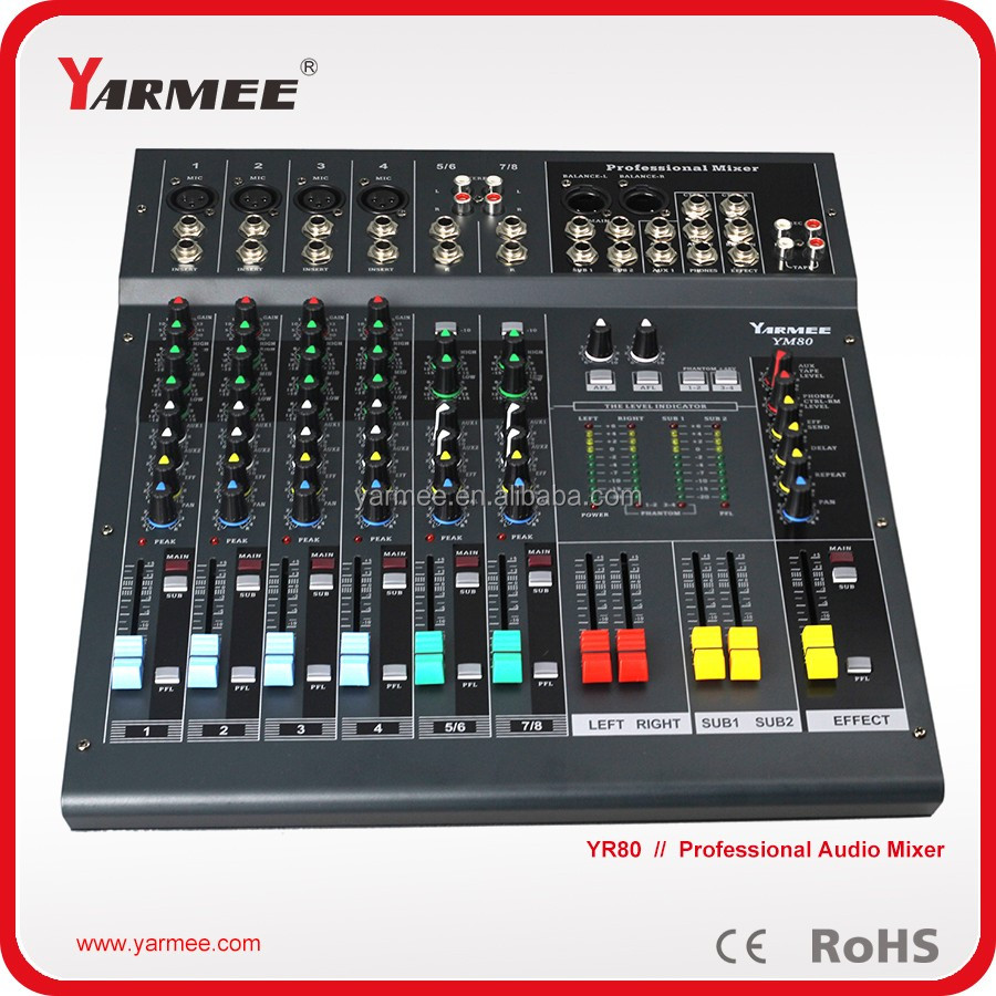2016 Hot Selling product 8 channel professional sound power mixer