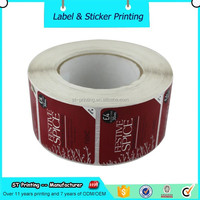Adhesive removable sticker paper , both sides printed personalized sticker
