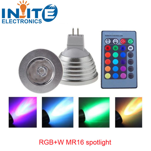 3W E27 E14 GU10 MR16 RGB LED Bulb Spotlight Colorful Light with 24Key IR Remote Controller