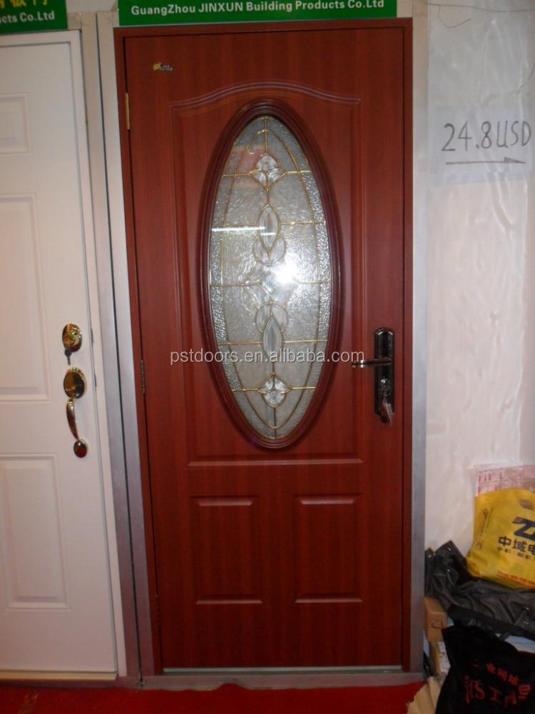 Entry steel glass door 15 lite clear glass steel exterior for 15 lite glass door