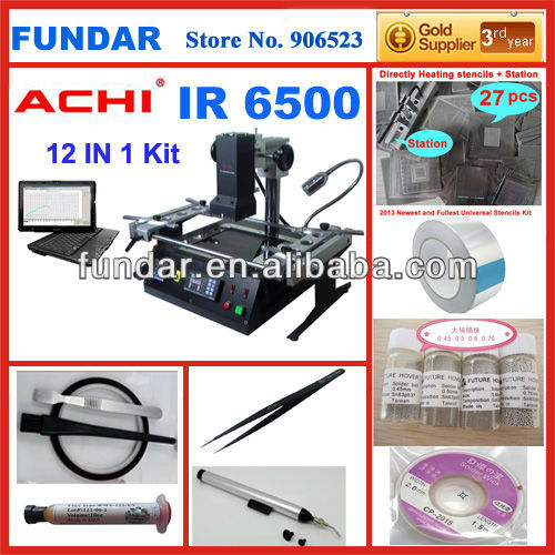 High success rate ACHI IR 6500 dark infrared bga chip repair machine