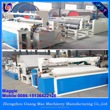 toilet paper machine with glue lamination ,log saw cutting machine and small toilet roll package machine