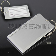 steel wire circle aluminum luggage tag wholesale with ur logo