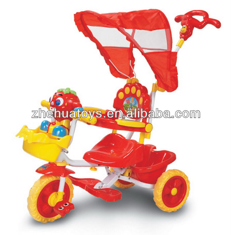 Baby folding vibration-preventive toy tricycle