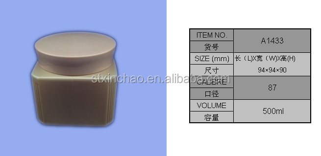 500ml hairdressing gel container