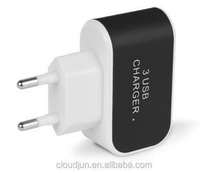 Universal Mobile Accessories US/EU Plug Travel USB Wall Charger for Cell Phone