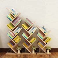 Tree Style Wooden Bookcases Shelving Storage Design Book Shelves Bookcase