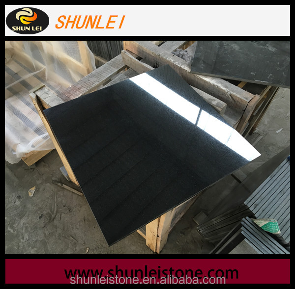 Parking Road Stone polished china hebei black granite floor tiles