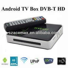 DVB-T mpeg4 digital tv receiver box, Build in WIFI ARM Cortex A9, Web Browser,PVR, XBMC