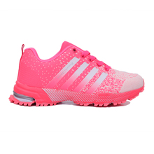 2016 New Trend Flyknit Sneakers Breathable Running Shoes for Women and Men
