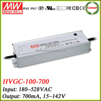 Meanwell HVGC-100-700 100w adjustable led dimmable driver