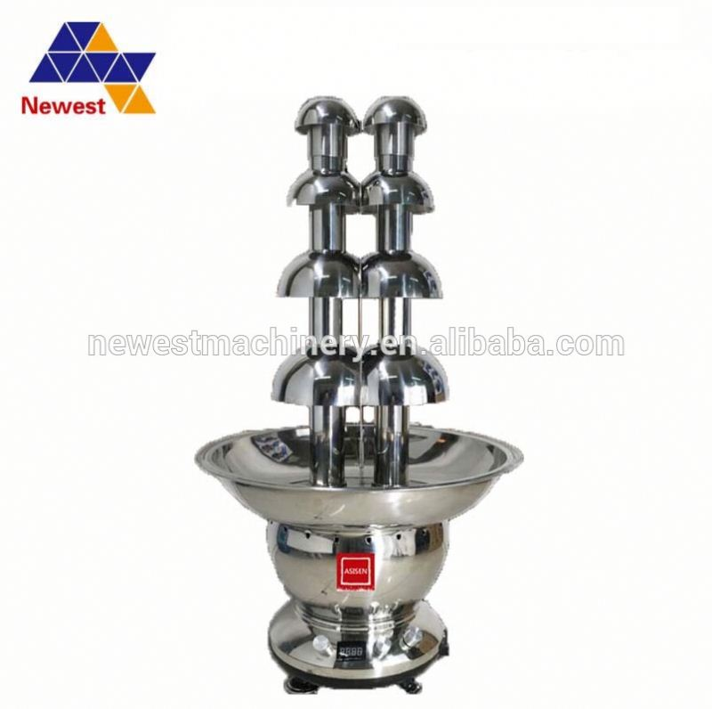 stainless steel 4 tier chocolate fondue fountain cheap price