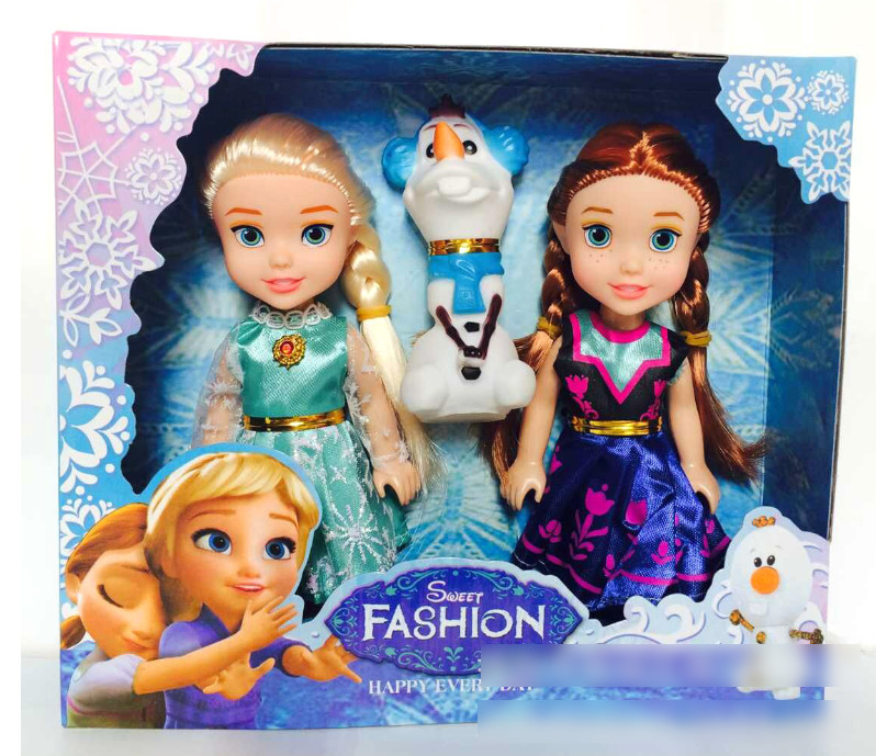 Kid cartoon doll toy Princess Doll Frozen Anna Elsa Doll