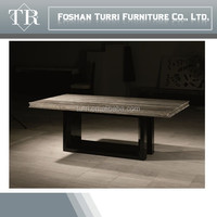 modern natural marble top dining table for luxury living room furniture