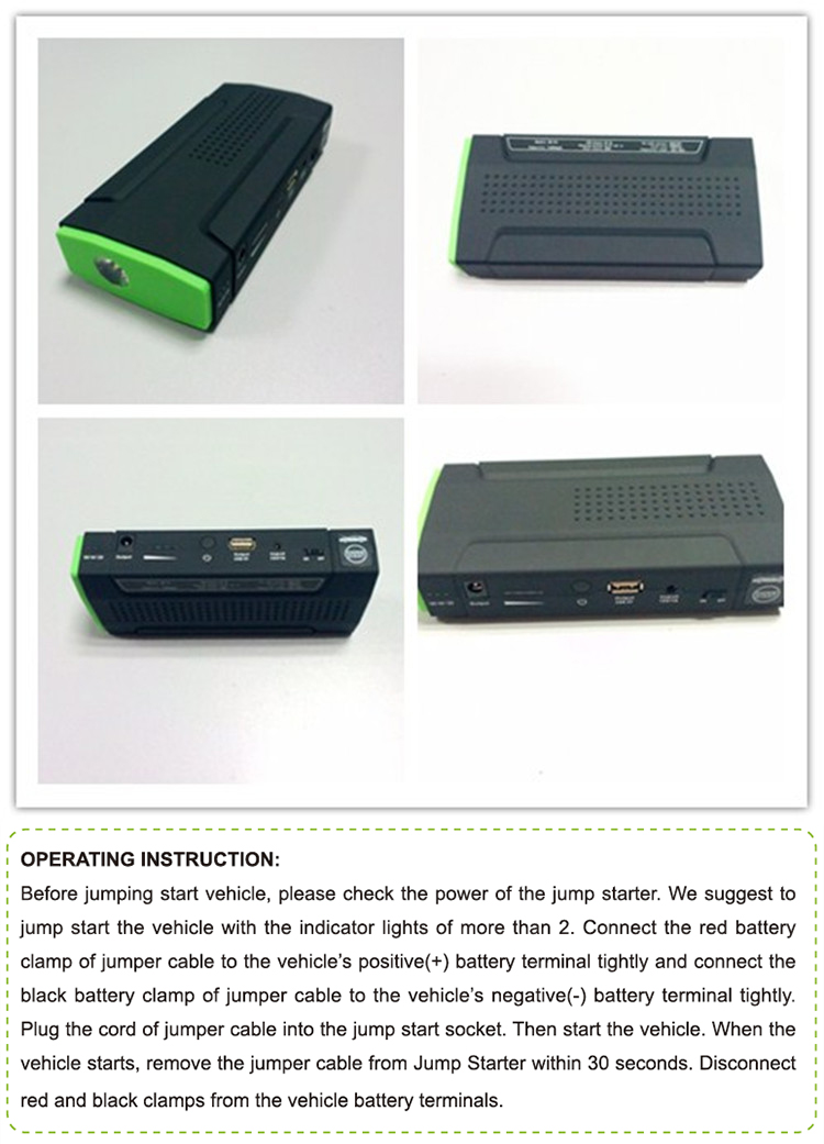 new product multiple power bank portable 18650 jump start battery booster