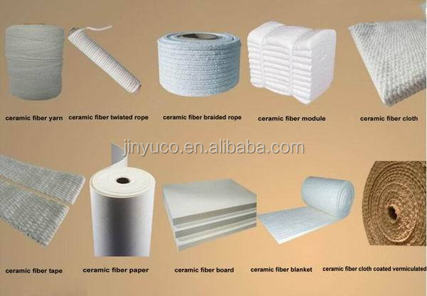 High density thermal stability insulation ceramic fiber board