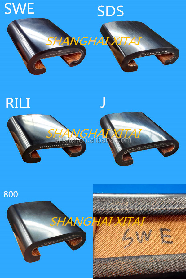 Factory price high quality escalator rubber handrails