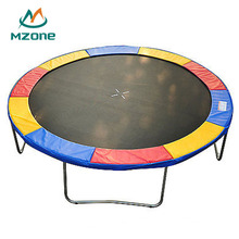 Mzone Circular Colorful Kids 8ft 10ft 12ft 14ft 16ft Round Wholesale Trampoline Without Safety Enclosure Net