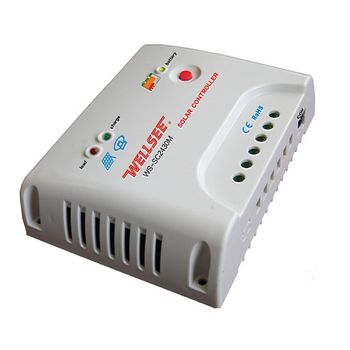 wellsee remote control pv system controller WS-SC2430M 12v/24v 20a 30a wind charger controller