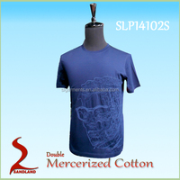 100%Double Mercerized cotton short sleeve printed T shirts for men