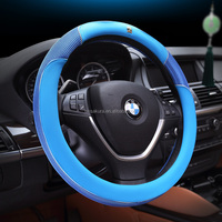 2016 new design polyester of the leather car steering wheel cover for Toyota Corolla