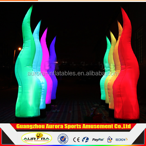 Hot Sale Inflatable LED Wedding/Party Pillars With Decoration